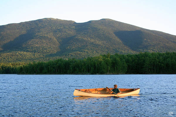 Photograph - Canoeing Flagstaff Lake by John Meader