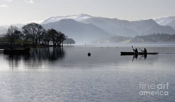Ullswater Photograph - Canoeing On Ullswater by Colin Woods