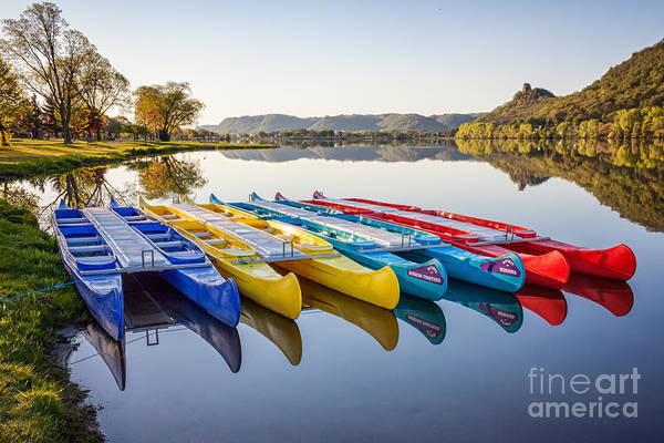 Canoes Color 2x3 Art Print