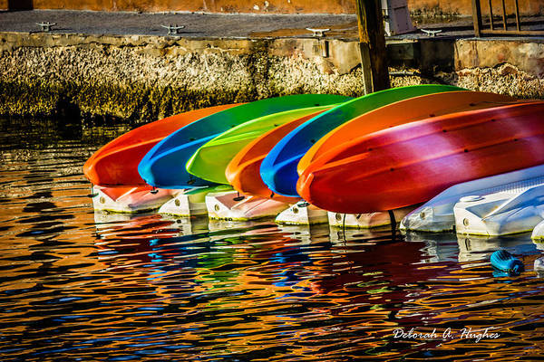 Photograph - Canoes by Deborah Hughes
