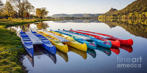 Canoes In The Early Morning II Art Print