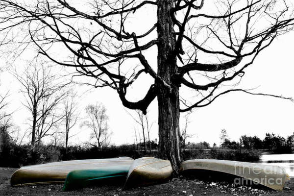 Photograph - Canoes In Winter by Michael Arend