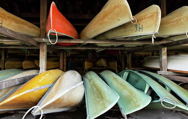 Canoe Photograph - Canoes by Khoa Vu