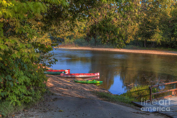 Riverway Photograph - Canoes On The Bank by Larry Braun