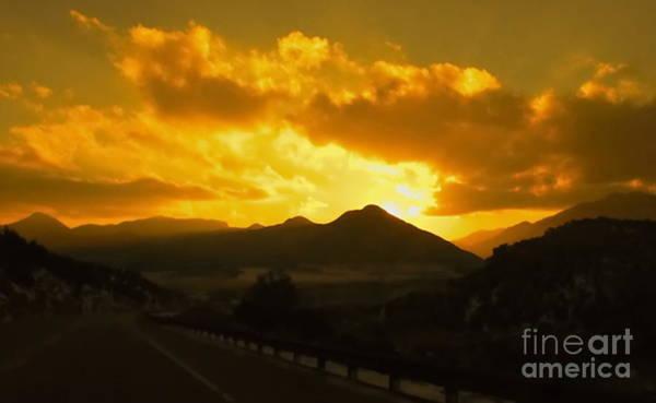 Wall Art - Digital Art - Canon City Sunset by Tim Richards