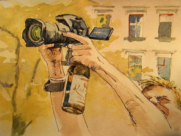 Party Wall Art - Painting - Canon Eos Street by Juan  Bosco