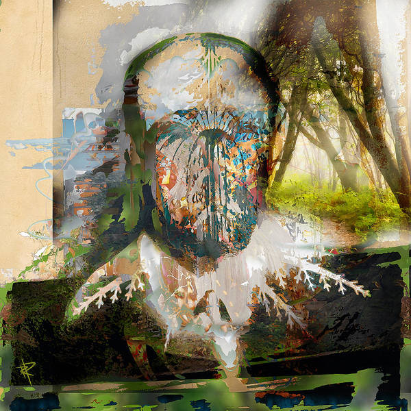 Bald Mixed Media - Can't See The Forest by Russell Pierce