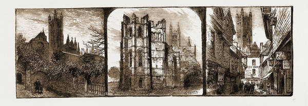 Entry Drawing - Canterbury, Uk, 1883 The Dark Entry, Beckets Crown by Litz Collection