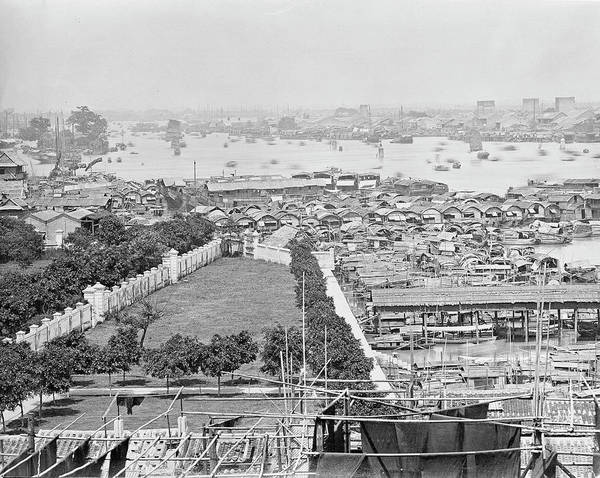Harbour Island Photograph - Canton Harbour by Natural History Museum, London/science Photo Library
