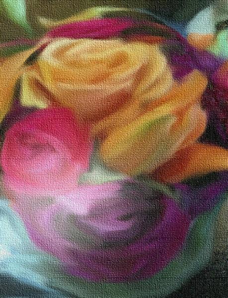 Mixed Media - Canvas Roses by Dennis Buckman
