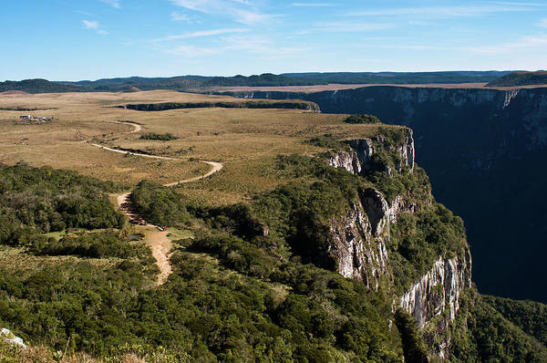 Crevice Photograph - Canyon And Plateau In Brazil by Jose Antonio Maciel