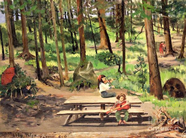 Canyon Campground - Yellowstone  1950's Art Print