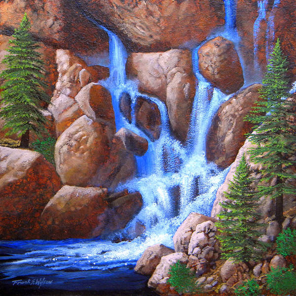 Painting - Canyon Cascade by Frank Wilson