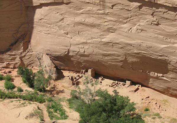 Spider Rock Photograph - Canyon De Chelly Ruins by Christiane Schulze Art And Photography