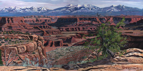 Outcrop Painting - Canyon Lands by Timithy L Gordon