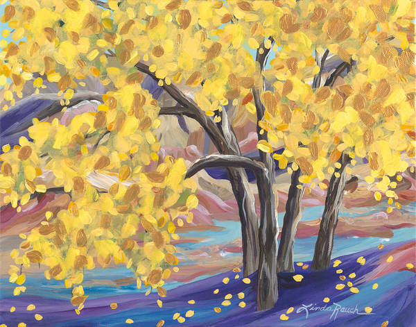 Painting - Canyon Of Gold by Linda Rauch
