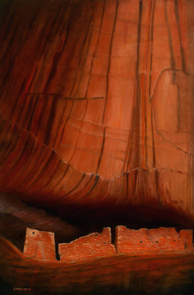 Anasazi Painting - Canyon Ruins by Jerry McElroy
