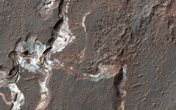Deposit Photograph - Canyon Sediments On Mars by Nasa/jpl-caltech/univeristy Of Arizona