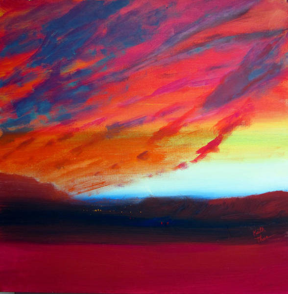 Painting - Canyon Sunset by Keith Thue