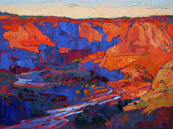 Wall Art - Painting - Canyon Wash by Erin Hanson