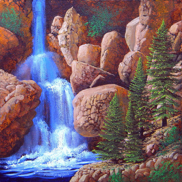 Painting - Canyon Waterfall by Frank Wilson