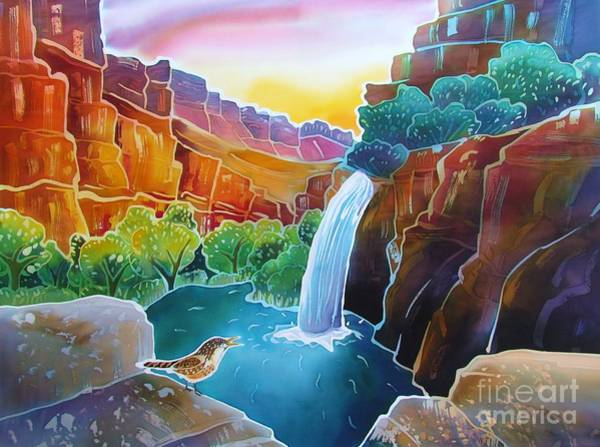 Wren Painting - Canyon Waterfall by Harriet Peck Taylor