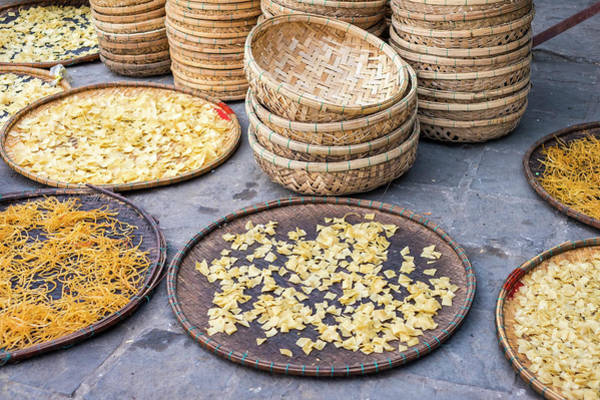 Quang Nam Province Photograph - Cao Lu Noodles Drying In The Sun, Hoi by Jason Langley