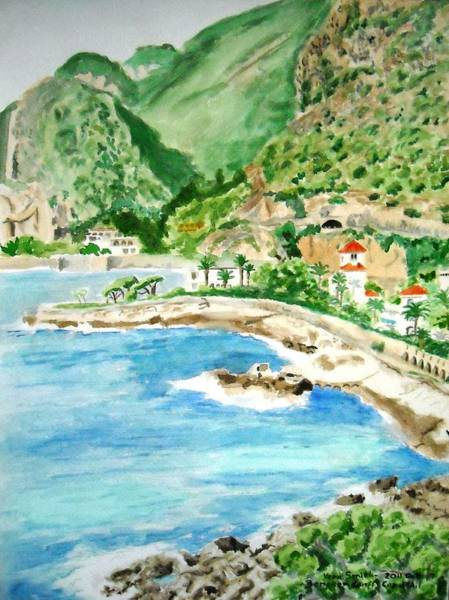 Painting - Cap D'ail On A Sunny Day  by Vera  Smith
