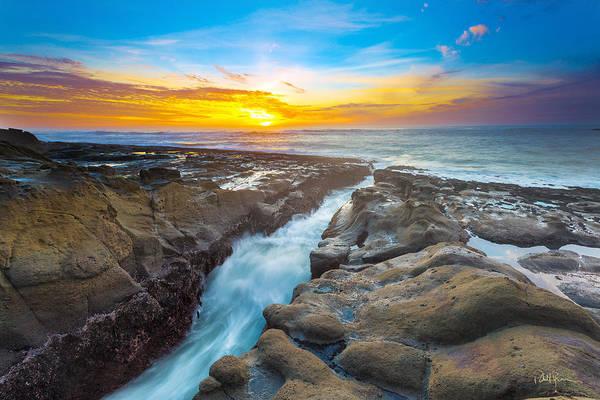 Wall Art - Photograph - Cape Arago Crevasse I by Robert Bynum