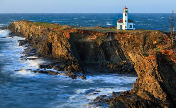 Oregon Coast Photograph - Cape Arago Lighthouse by Robert Bynum