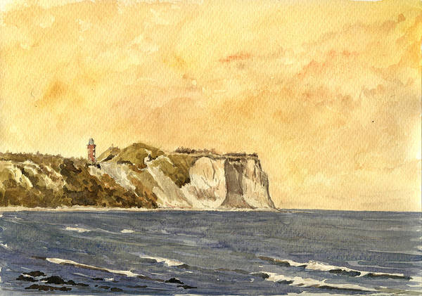 Lighthouse Painting - Cape Arkona Germany by Juan  Bosco
