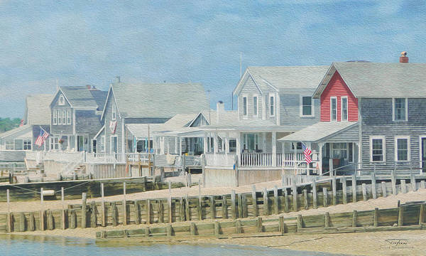 Balcony Drawing - Cape Cod 04 by MGL Meiklejohn Graphics Licensing