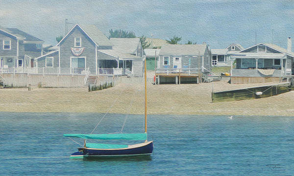 Balcony Drawing - Cape Cod 05 by MGL Meiklejohn Graphics Licensing