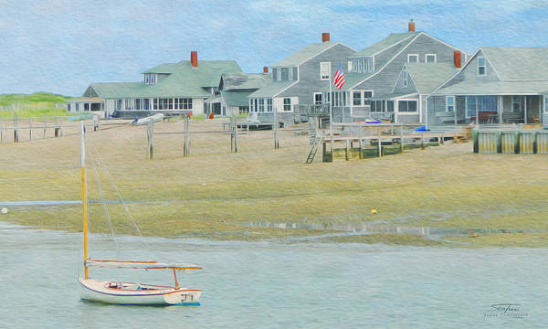 Balcony Drawing - Cape Cod 06 by MGL Meiklejohn Graphics Licensing