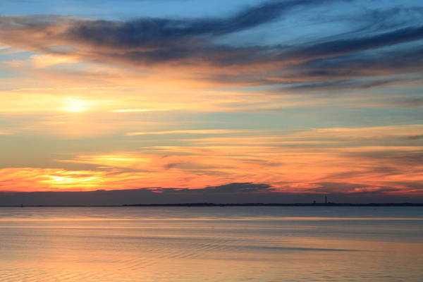 Cape Cod Sunset Photograph - Cape Cod Bay Sunset by John Burk