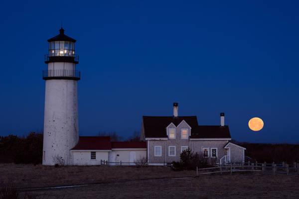 Cape Cod Moonset Art Print