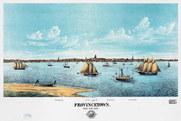 Painting - Cape Cod Provincetown by Granger