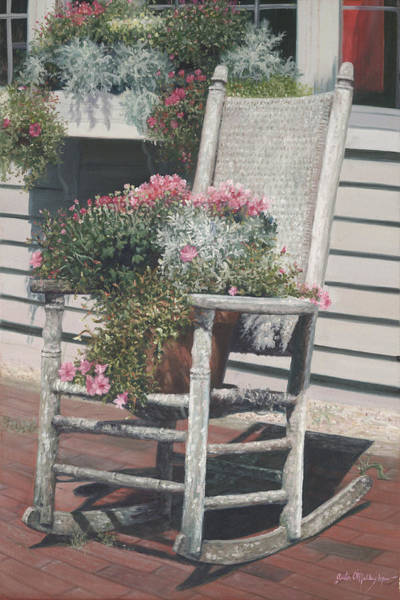 Rocking Chairs Painting - Cape Cod Rocker by Julia O'Malley-Keyes