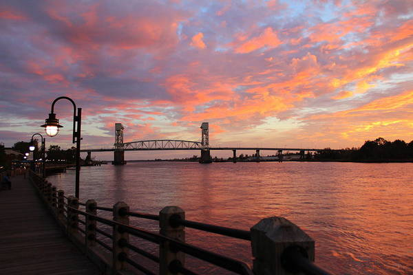 Photograph - Cape Fear Bridge by Cynthia Guinn
