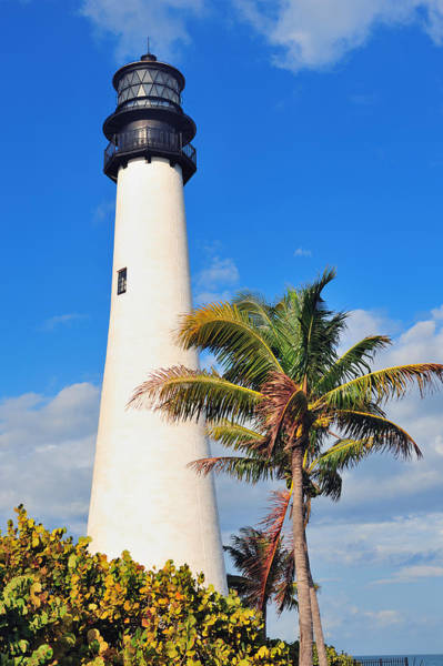 Photograph - Cape Florida Light Lighthouse Miami by Songquan Deng