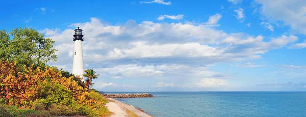 Photograph - Cape Florida Light Panorama by Songquan Deng