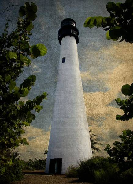 Key Biscayne Photograph - Cape Florida Lighthouse 1 by Rudy Umans