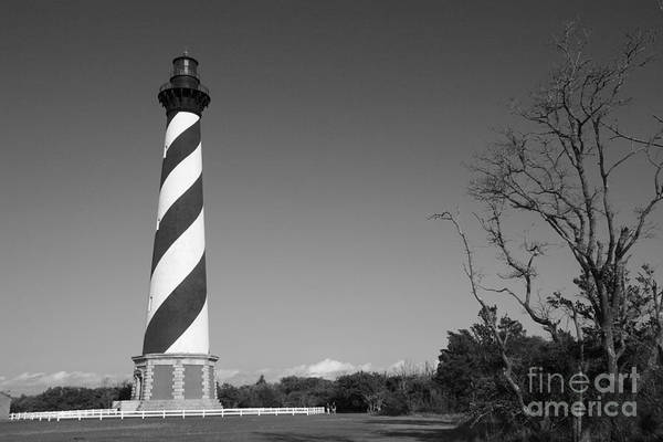 Photograph - Cape Hatteras Lighthouse In Black And White by Jill Lang