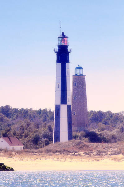 Photograph - Cape Henry Lighthouses  II by Pete Federico