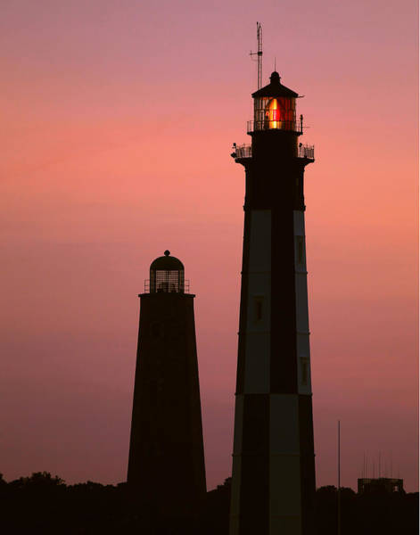 Photograph - Cape Henry Lighthouses  by Pete Federico