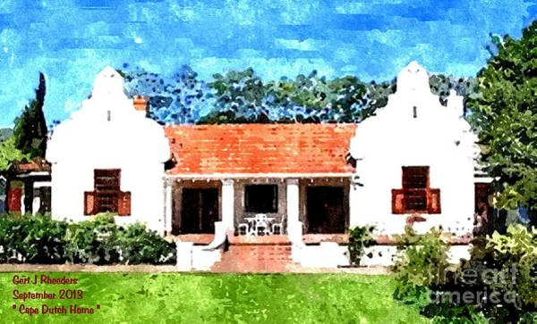 Special Offer Painting - Cape Homestead H A by Gert J Rheeders