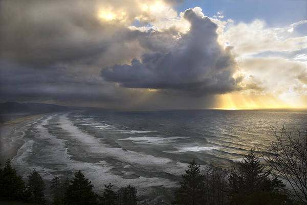 Photograph - Sunset At Cape Lookout Oregon Coast by Yulia Kazansky