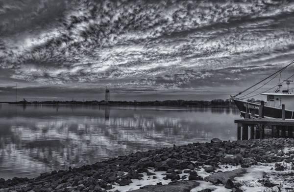 Photograph - Cape May Harbor Bw by Tom Singleton