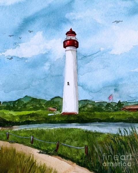 Cape May Painting - Cape May Light by Nancy Patterson