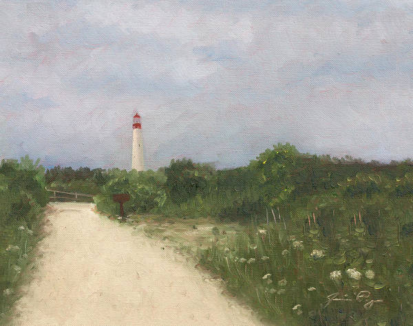 Cape May Painting - Cape May Lighthouse From A Distance by Jamie Pogue